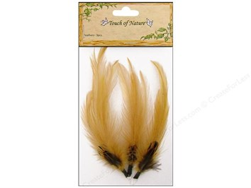 Midwest Design 4 inch Gold and Brown Feathers