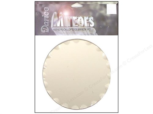 Darice Scalloped Craft Mirror
