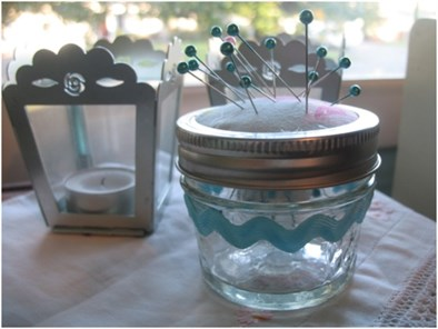 Jar Pincushion from ThinkCrafts