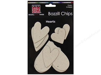 Bazzill Chipboard Chips Hearts
