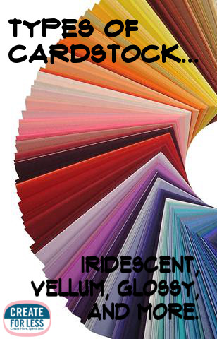 Cardstock types colors and projects createforless for Craft paper card stock