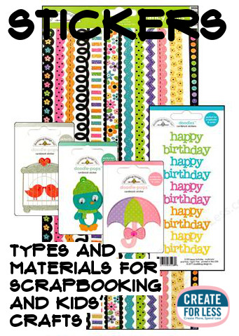 Types of stickers and crafting ideas createforless com discount craft supplies