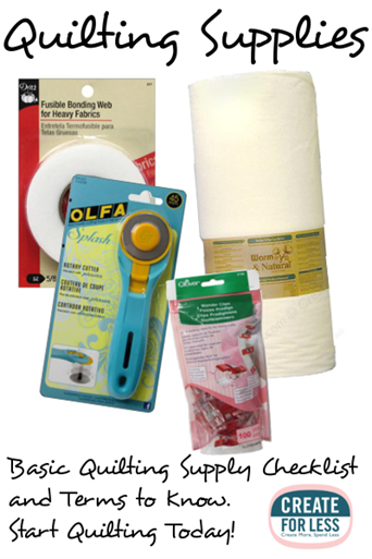 Quilting Supplies Basic Terms And Tools Createforless