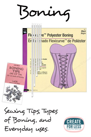 Boning Sewing Tips and Uses for Everyday Clothing | CreateForLess.com Discount Craft Supplies