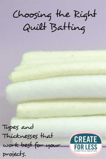 Quilt Batting - Types and How to Choose the Right One -- CreateForLess : wadding for quilting - Adamdwight.com