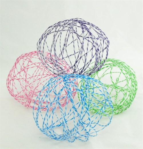 Hollow String Eggs With Twine