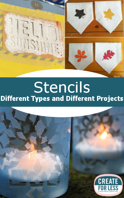 Tips for using all types of craft stencils from fabric to walls | CreateForLess.com Discount Craft Supplies