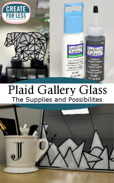 Gallery Glass Paint - Create a Faux Stained Glass Design in No Time | CreateForLess.com Discount Craft Supplies