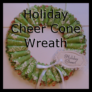 Holiday Cone Cheer Wreath