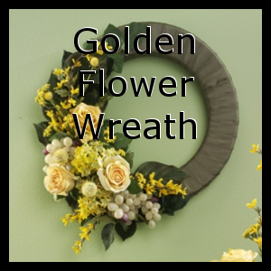 Golden Flower Arrangement