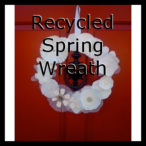 Recycled Spring Wreath