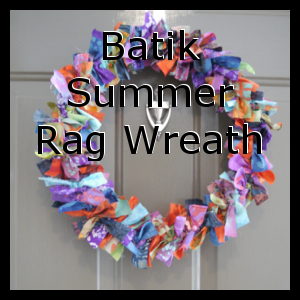 Batik Summer Rag Wreath