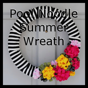 Pool Noodle Summer Wreath