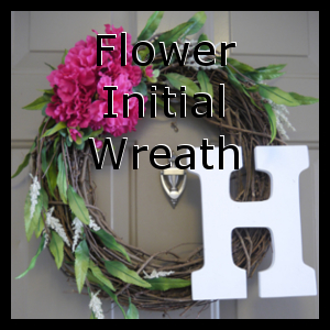 Flower Initial Wreath