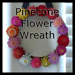 Pinecone Flower Wreath