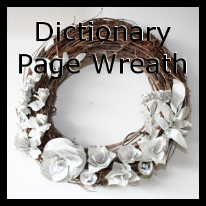 Dictionary Page Wreath