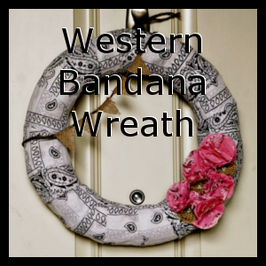 Western Bandana Wreath