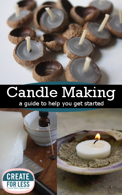 candle making candle wax holders and craft ideas createforless. Black Bedroom Furniture Sets. Home Design Ideas