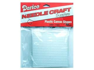 Darice Plastic Canvas #7 circle: Darice Plastic Canvas #7 Mesh 3 x 3 in. Clear Square