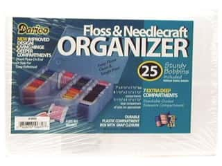 beading & jewelry making supplies: Darice Organizer 7 Hole Floss & Needlecraft with 25 Cardboard Bobbins