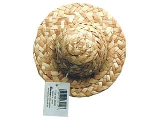 Darice Straw Hat Round Crown 5""