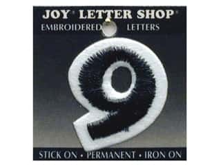 "Joy Lettershop Iron-On Number ""9"" Embroidered 1 1/2 in. Black"