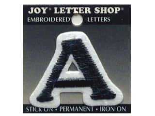 "6 inch iron on letters Iron On Patches: Joy Lettershop Iron-On Letter ""A"" Embroidered 1 1/2 in. Black"