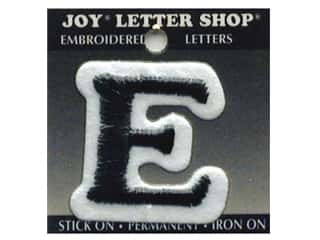 "Joy Lettershop Iron-On Letter ""E"" Embroidered 1 1/2 in. Black"
