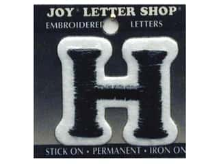 "Joy Lettershop Iron-On Letter ""H"" Embroidered 1 1/2 in. Black"
