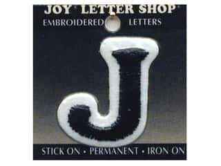 "Joy Lettershop Iron-On Letter ""J"" Embroidered 1 1/2 in. Black"