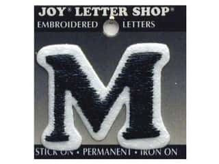 "Joy Lettershop Iron-On Letter ""M"" Embroidered 1 1/2 in. Black"