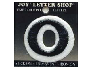 "Joy Lettershop Iron-On Letter ""O"" Embroidered 1 1/2 in. Black"