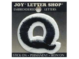 "Joy Lettershop Iron-On Letter ""Q"" Embroidered 1 1/2 in. Black"