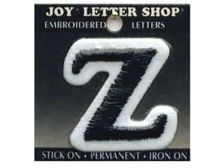 "monogram iron ons Iron On Letters & Numbers: Joy Lettershop Iron-On Letter ""Z"" Embroidered 1 1/2 in. Black"
