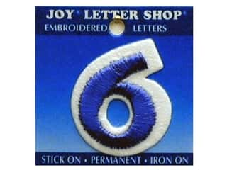 "Joy Lettershop Iron-On Number ""6"" Embroidered 1 1/2 in. Blue"