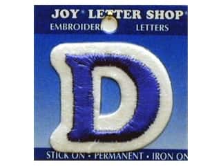 "Joy Lettershop Iron-On Letter ""D"" Embroidered 1 1/2 in. Blue"