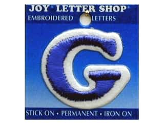 "Joy Lettershop Iron-On Letter ""G"" Embroidered 1 1/2 in. Blue"