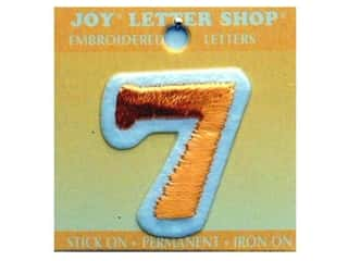 "Joy Lettershop Iron-On Number ""7"" Embroidered 1 1/2 in. Gold"