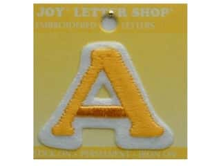 "monogram iron ons Iron On Letters & Numbers: Joy Lettershop Iron-On Letter ""A"" Embroidered 1 1/2 in. Gold"
