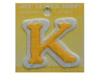 "Joy Lettershop Iron-On Letter ""K"" Embroidered 1 1/2 in. Gold"