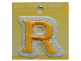 "Joy Lettershop Iron-On Letter ""R"" Embroidered 1 1/2 in. Gold"