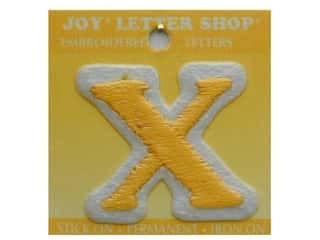 "Joy Lettershop Iron-On Letter ""X"" Embroidered 1 1/2 in. Gold"