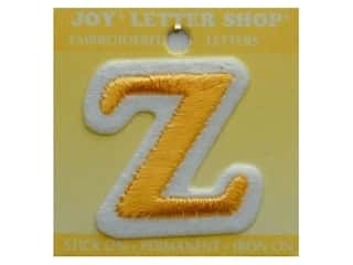 "Joy Lettershop Iron-On Letter ""Z"" Embroidered 1 1/2 in. Gold"