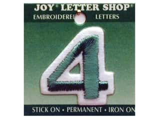 "Joy Lettershop Iron-On Number ""4"" Embroidered 1 1/2 in. Green"