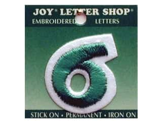"Joy Lettershop Iron-On Number ""6"" Embroidered 1 1/2 in. Green"