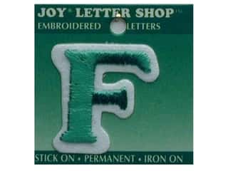 "Joy Lettershop Iron-On Letter ""F"" Embroidered 1 1/2 in. Green"
