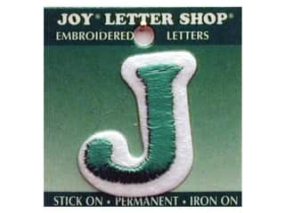 "Joy Lettershop Iron-On Letter ""J"" Embroidered 1 1/2 in. Green"