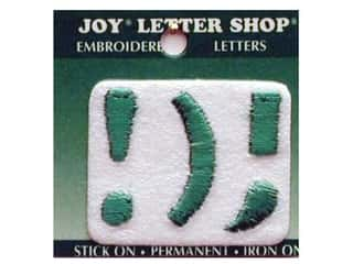 "Joy Lettershop Iron-On Character ""!);"" Embroidered 1 1/2 in. Green"