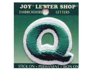 "Joy Lettershop Iron-On Letter ""Q"" Embroidered 1 1/2 in. Green"