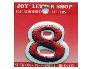 "Joy Lettershop Iron-On Number ""8"" Embroidered 1 1/2 in. Red"
